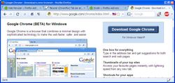 Firefox plays the part of Chrome