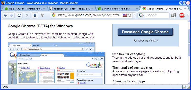 FirefoxAsChrome