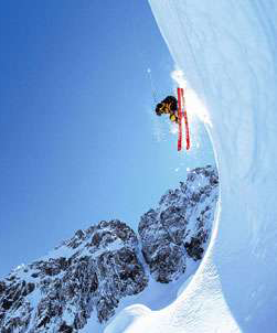 Very downhill skiing
