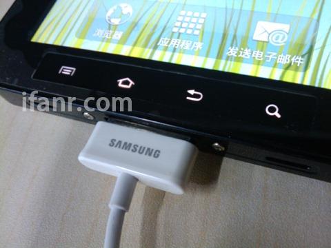Samsung's Galaxy Tab screenshot at ifanr.com